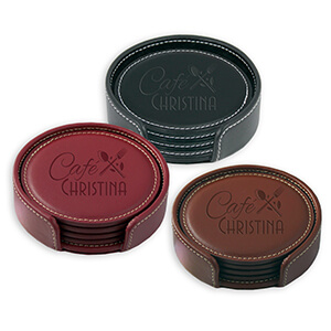 Item: Mi8058 - Leather Coaster Gift Set