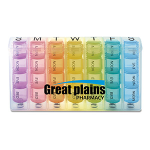 Item: MI1202 - Rainbow Spring Loaded 7-Day Pill Box
