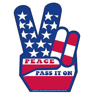 MG11030 - Peace Sign Magnetic Car Signs