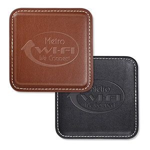 Item: Mi8053 - Vintage Leather 4-Square Coaster