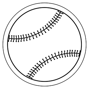 Baseball2 - Indoor NoteKeeper&#0153 Magnet