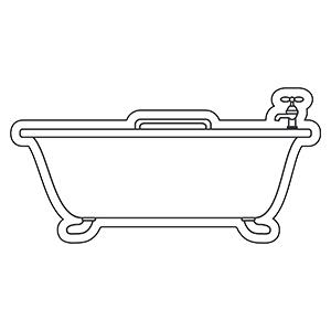 Bathtub1 - Indoor NoteKeeper&#0153 Magnet