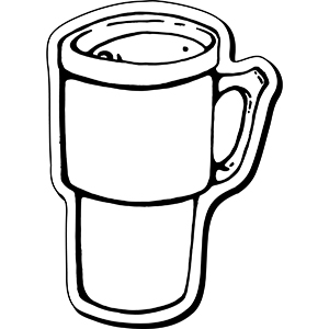 CoffeeMug1 - Indoor NoteKeeper&#0153 Magnet