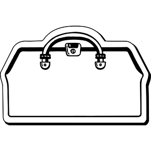 DoctorBag2 - Indoor NoteKeeper&#0153 Magnet