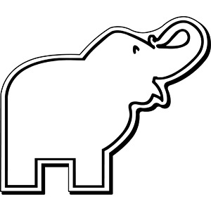 Elephant1 - Indoor NoteKeeper&#0153 Magnet