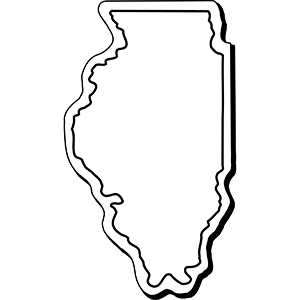 Illinois1 - Indoor NoteKeeper&#0153 Magnet