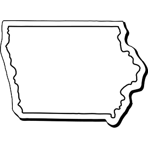 Iowa1 - Indoor NoteKeeper&#0153 Magnet