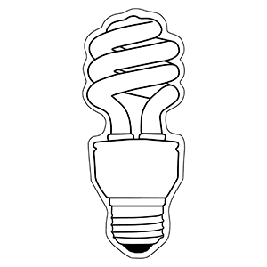 LightBulb6 - Indoor NoteKeeper&#0153 Magnet