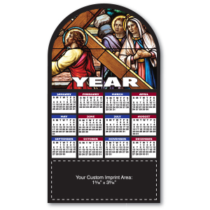 MG19175 - Stained Glass Magnetic Calendar