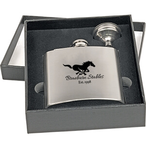 Item: Mi4218 - 2-Piece Metal Flask Set