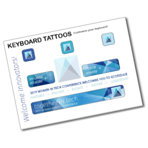 Item: T23021 - Laptop Keyboard Tattoos - Tech Accessories