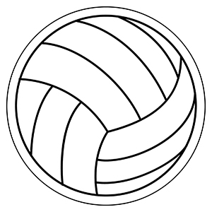 Volleyball1 - Indoor NoteKeeper&#0153 Magnet
