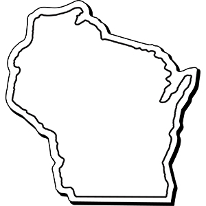Wisconsin1 - Indoor NoteKeeper&#0153 Magnet